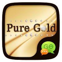 (FREE) GO SMS PURE GOLD THEME For PC (Windows And Mac)