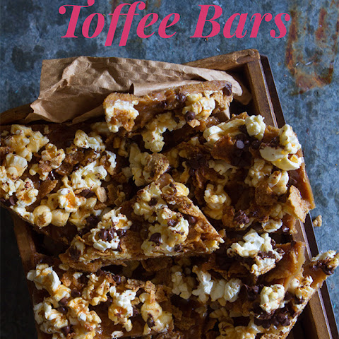 Graham Cracker and Popcorn Toffee Bars