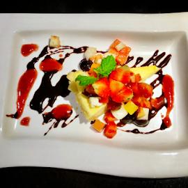 Caramel custard with mixed berries  by Amrita Bhattacharyya - Food & Drink Candy & Dessert (  )
