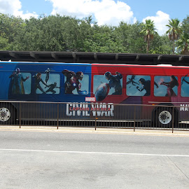 Civil War by Keith Heinly - Transportation Other ( bus, animal kingdom, florida, civil war, disney )