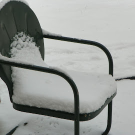 Winter Be Gone by Sandy Stevens Krassinger - Artistic Objects Furniture ( chair, still life, snow, artistic objects, furniture )