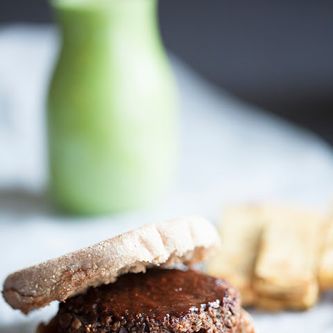 Lentil Tamarind Barbecue Burgers with Chickpea Fries (gluten free)