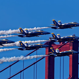 Blue Angels 751 by Raphael RaCcoon - Transportation Airplanes ( blue angels )