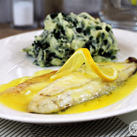 Grilled Seabass with Lemon Garlic Butter Sauce & Colcannon