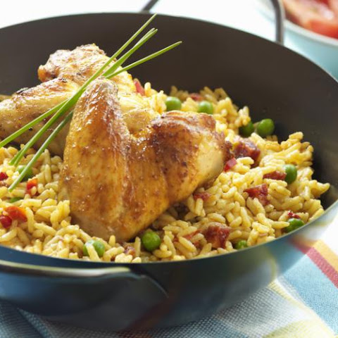 Baked Chicken With Yellow Rice