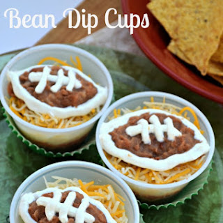 Game Day Football Bean Dip Cups