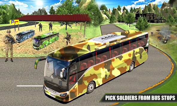 US Army Coach Bus Simulation apk screenshot