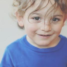 Lincoln by Brian Melendrez - Babies & Children Babies ( love, lincoln, blue, nephew, curls )