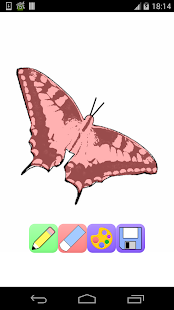 butterfly coloring pages games - screenshot