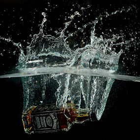 Jack taking a Dip... by Jean-marc Nehmé - Food & Drink Alcohol & Drinks ( water, jack, splash, alcohol )