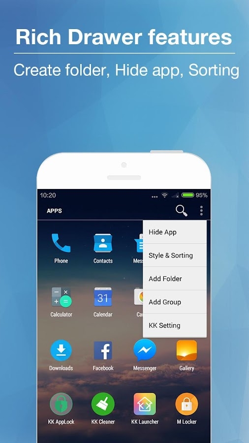 KK Launcher -Cool,Top launcher Screenshot 1