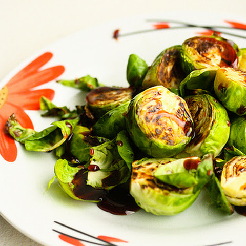 Caramelized Brussels Sprouts with Balsamic Syrup