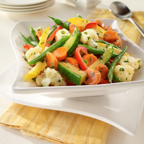 Steamed Vegetables With Herb Stir-Ins