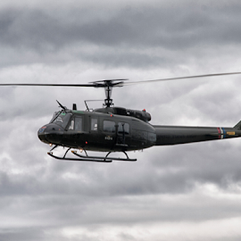 Bell UH-1 Iroquois by Tommy  Cochrane - Transportation Helicopters ( gunship, helicopter, bell, huey, vietnam, uh-1 )