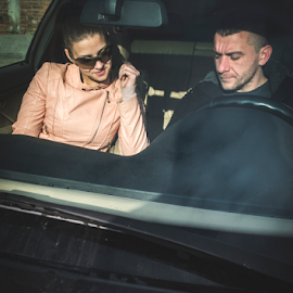 Young boy and women in car by Deyan Georgiev - Transportation Automobiles ( car, fashion, automobile, vehicle, driving, road, transportation, travel, people, caucasian, girl, friends, woman, happy, family, lifestyle, couple, trip, man, vintage, beautiful, male, white, adult, young, relationship, female, auto, summer, boy )