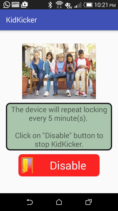 KidKicker Pro parental control Screenshot 1