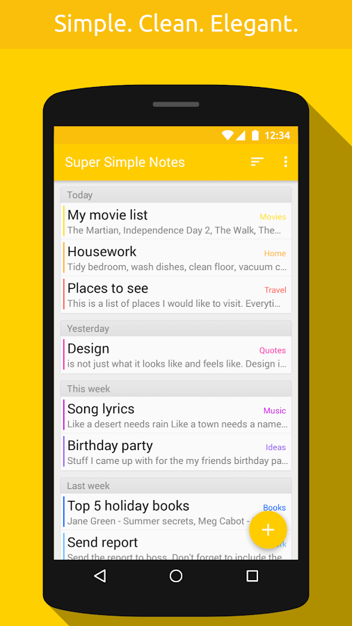 Super Simple Notes Screenshot 0