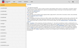 Screenshot of Webster's Thesaurus TR