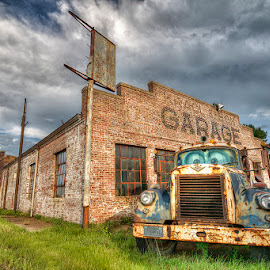 A Time Gone By by Ken Smith - Buildings & Architecture Decaying & Abandoned ( krackl and son, rural nebraska, filing station )