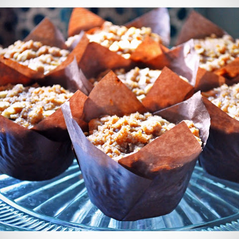 Banana Oat Muffins with Streusel