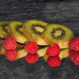 kiwi with raspberry by LADOCKi Elvira - Food & Drink Fruits & Vegetables