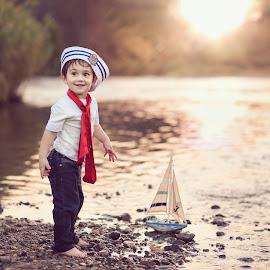 Sailor boy by Pierre Vee - Babies & Children Children Candids