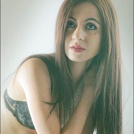 Bianca Lingerie by Adrian Chinery - Nudes & Boudoir Boudoir ( lingerie, black and white, johannesburg, south africa, portfolio, photographer, retro, portrait, adrian chinery )