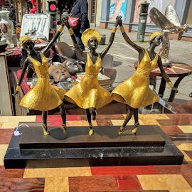 Sisters, Sisters by Stephen Lang - City,  Street & Park  Street Scenes
