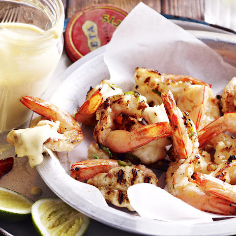 Grilled Shrimp with Spicy Mayonnaise