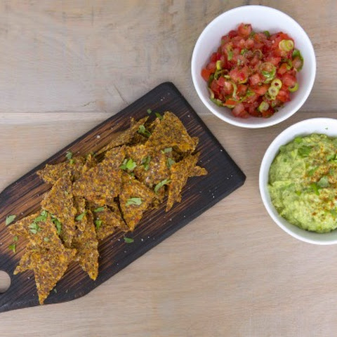 Tortilla Chips with Guacamole & Tomato Salsa