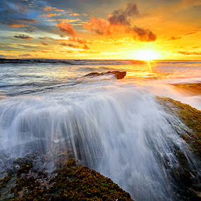by Hendri Suhandi - Landscapes Waterscapes ( water, fuse, sunset, sea, ocean, sunrise, beach, melt )