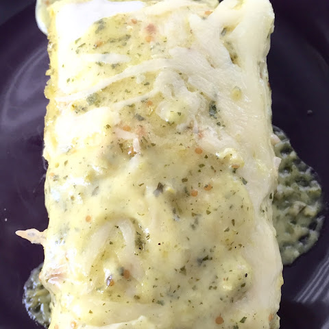 Chicken Burrito's With Salsa Verde And Lime