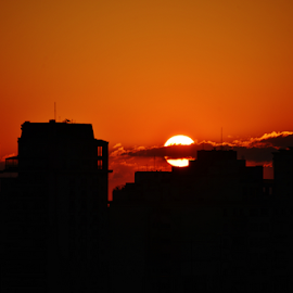 Sunset in Sao Paulo Brazil by Marcello Toldi - Landscapes Sunsets & Sunrises