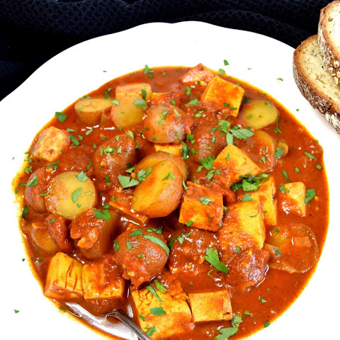 Vegan Hungarian Goulash with Tofu and Potato