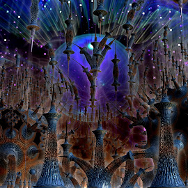 On Broadway!  by Rick Eskridge - Illustration Places ( jwildfire, places, mb3d, fractal, twisted brush )