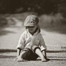 Cutie Pie. by Theresa  Floyd - Babies & Children Children Candids ( child, blonde, blue eyes, boy )
