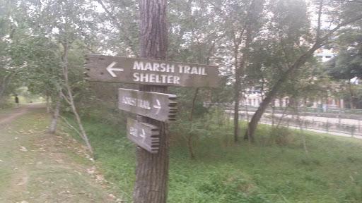 Marsh Trail Shelter Sign