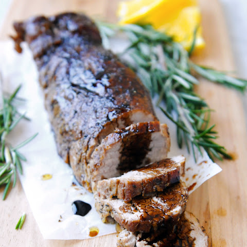 Rosemary Crusted Pork Loin with Balsamic Drizzle