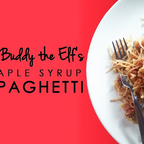 Maple Syrup Spaghetti with Buddy the Elf