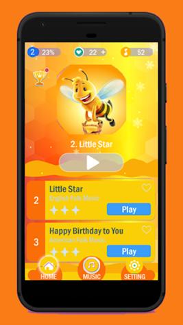 Honey Bee magic piano tiles 🐝🐝🐝 Screenshot