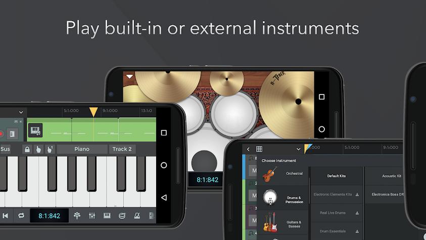n-Track Studio 9 Pro Music DAW Screenshot