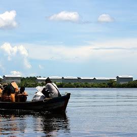 Home from School by Mulawardi Sutanto - Transportation Boats ( school, village, sambas, travel, kalimantan, boat, river )