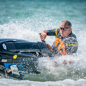 Spin Turn by Andrew Christmann - Sports & Fitness Watersports ( playing, water, yamaha, lake michigan, blue, jet ski, fun )