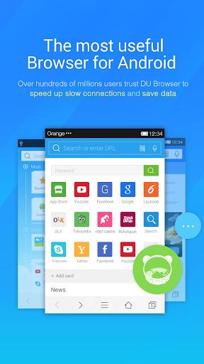 DU Browser—Browse fast & fun screenshot 1