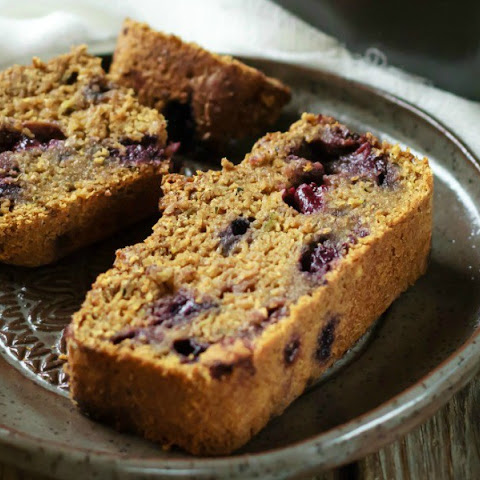 Healthy Blueberry Zucchini Bread
