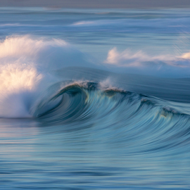 Smoke & Mirrors by Clive Wright - Landscapes Waterscapes ( ocean, blue, water, sea, wave )