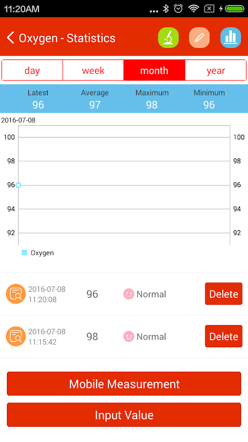iCare Oxygen Monitor Pro Screenshot 4