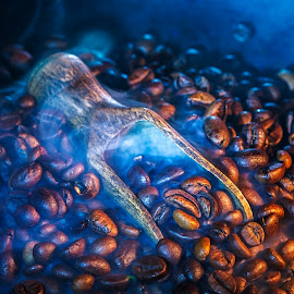 Hot coffee beans by Dumitru Doru - Food & Drink Ingredients ( aroma, fresh, food, beans, coffee, hot, morning, hot coffee beans )