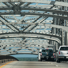 Mississippi River Bridge by Mike Zegelien - Buildings & Architecture Bridges & Suspended Structures ( structure, architecture, historical, bridge, river )