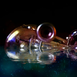 Trumpet Reflection by Victor Sanchez - Instagram & Mobile Android ( fantasy, water, reflection, trumpet, instrument )